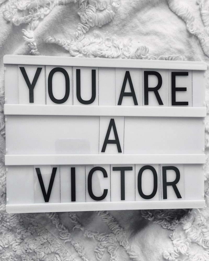 you are a victor, light box,