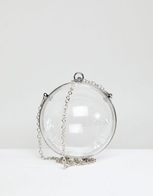 ASOS Perspex Cross Body Ball Bag With Chain Strap